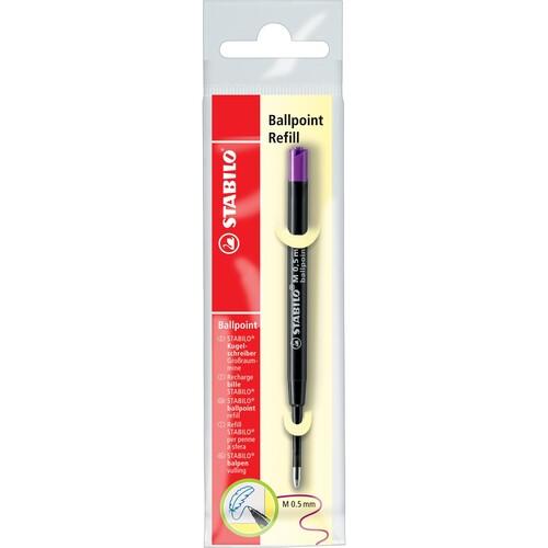 Kugelschreibermine Ballpoint Refill 0,5mm türkis + lila Stabilo 2/0518-10 Produktbild Additional View 6 L