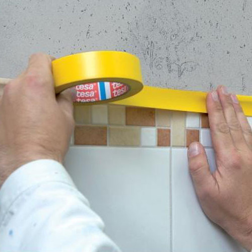 Putzband 30mm x 33m gelb Folie glatt Tesa 66001-00000-00 (RLL=33 METER) Produktbild Front View L