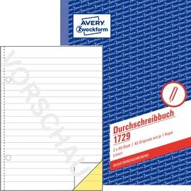 Durchschreibebuch A5 2x40Blatt liniert selbstdurchschreibend Zweckform 1729 Produktbild