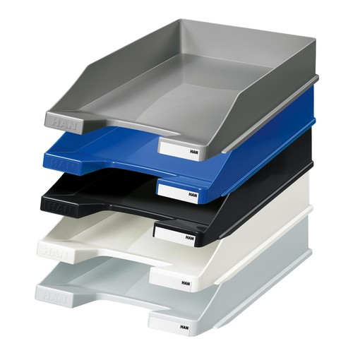 Briefkorb Standard für A4 243x57x335mm schwarz Kunststoff HAN 1027-X-13 Produktbild Additional View 2 L
