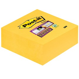 Haftnotizen Post-it Super Sticky Notes Würfel 76x76mm narzissengelb Papier 3M 2014-S (ST=270 BLATT) Produktbild