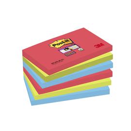 Haftnotizen Post-it Super Sticky Notes 127x76mm Bora Bora Papier 3M 6556SJ (ST=6x 90 BLATT) Produktbild