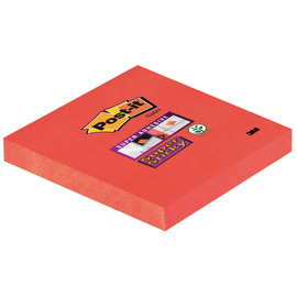 Haftnotizen Post-it Super Sticky Notes 76x76mm mohnrot Papier 3M 6546SP (ST=90 BLATT) Produktbild