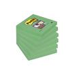 Haftnotizen Post-it Super Sticky Notes 76x76mm lindgrün Papier 3M 6546SA (ST=90 BLATT) Produktbild Additional View 4 S