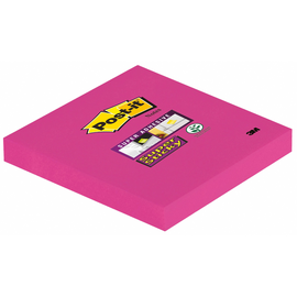Haftnotizen Post-it Super Sticky Notes 76x76mm ultrapink Papier 3M 654SPI (ST=90 BLATT) Produktbild
