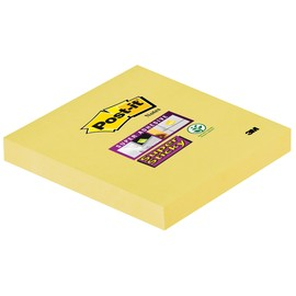 Haftnotizen Post-it Super Sticky Notes 76x76mm gelb Papier 3M 65412SY (ST=90 BLATT) Produktbild