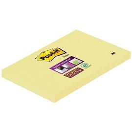 Haftnotizen Post-it Super Sticky Notes 76x127mm gelb Papier 3M 65512SY (ST=90 BLATT) Produktbild