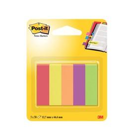 Haftstreifen Post-it Page Marker 12,7x44,4m 5x50Blatt Papier 3M 670-5JA (PACK = 5X50BLATT) Produktbild
