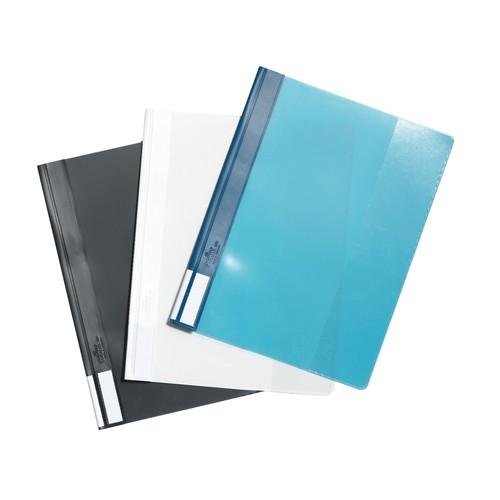 Schnellhefter Duralux A4 mit 3-teiligem Außenfenster blau Durable 2681-06 Produktbild Additional View 1 L