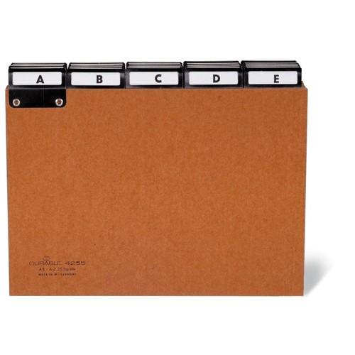 Leitregister A-Z 25-teilig A4 quer braun Pressspan Durable 4245-11 Produktbild Front View L