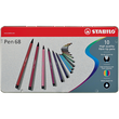 Fasermaler Pen 68 Etui 1mm Rundspitze sortiert Metalletui Stabilo 6810-6 (ETUI=10 STÜCK) Produktbild
