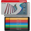 Fasermaler Pen 68 Etui 1mm Rundspitze sortiert Metalletui Stabilo 6810-6 (ETUI=10 STÜCK) Produktbild Additional View 1 S