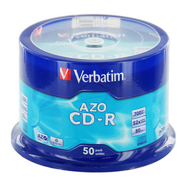 CD Rohling CD-R DataLife Plus Spindel 52er Speed 700MB/80Min. Verbatim 43343 (PACK=50 STÜCK) Produktbild