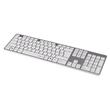 Tastatur Slimline Keyboard Rossano USB weiß/silber Hama 00182668 Produktbild