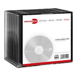 CD Rohling CD-R Silver Protection Surface Slim Case 52er Speed 700MB/80Min Primeon 2761100 (PACK=10 STÜCK) Produktbild