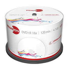 DVD+R printable White Fullsize Surface Cakebox 16fach 4,7GB Primeon 2761226 (PACK=50 STÜCK) Produktbild