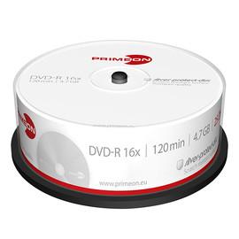 DVD-R Silver Protection Surface 16fach Cakebox 4,7GB/120Min. Primeon 2761203 (PACK=25 STÜCK) Produktbild