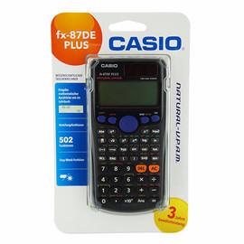Taschenrechner 3-zeiliges Display 510 Funktionen 11,1x161x80mm Solar-/ Batteriebetrieb Casio FX-87 DE PLUS Produktbild