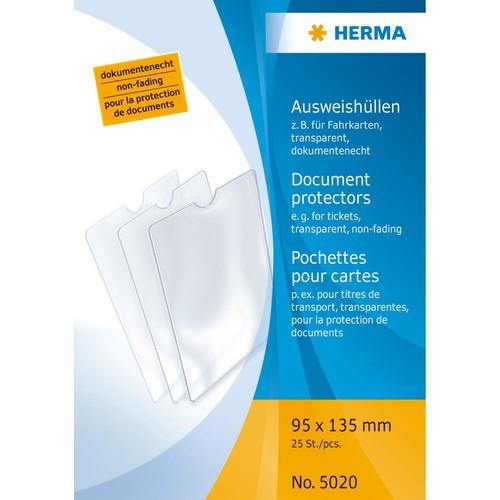 Ausweishülle 95x135mm transparent Herma 5020 Produktbild
