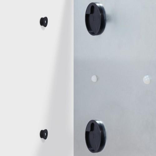 Glas-Magnetboard artverum 1000x1000x15mm super-weiß inkl. Magnete Sigel GL201 Produktbild Additional View 3 L