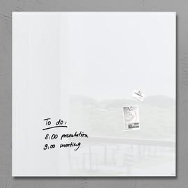 Glas-Magnetboard artverum 1000x1000x15mm super-weiß inkl. Magnete Sigel GL201 Produktbild
