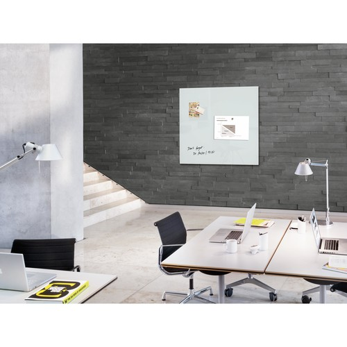 Glas-Magnetboard artverum 1000x1000x15mm super-weiß inkl. Magnete Sigel GL201 Produktbild Additional View 6 L