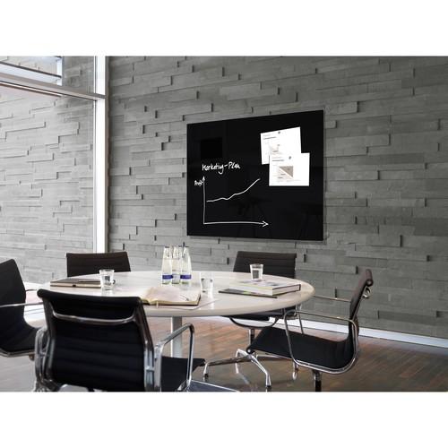 Glas-Magnetboard artverum 1200x900x15mm schwarz inkl. Magnete Sigel GL210 Produktbild Additional View 6 L