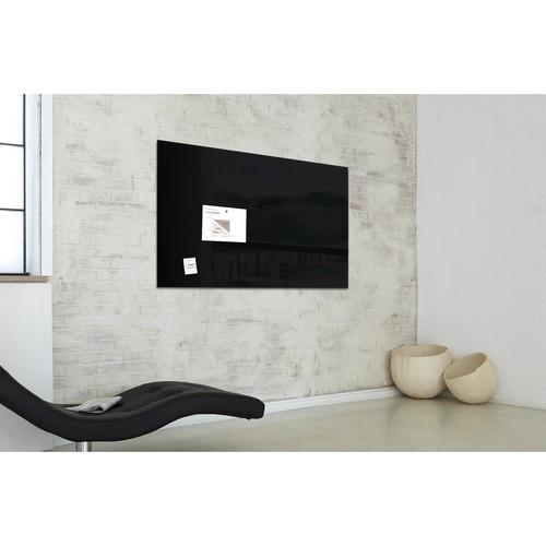 Glas-Magnetboard artverum 1200x900x15mm schwarz inkl. Magnete Sigel GL210 Produktbild Additional View 7 L