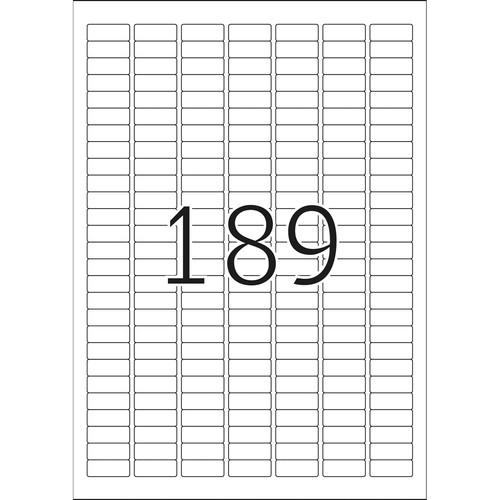 Etiketten Inkjet+Laser+Kopier 25,4x10,0mm auf A4 Bögen weiß extrem stark haftend Herma 10900 (PACK=4725 STÜCK) Produktbild Additional View 2 L