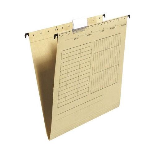 Hängemappen seitlich offen für ungelochte Unterlagen braun BestStandard 80004328 (PACK=25 STÜCK) Produktbild Front View L