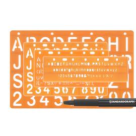 Schablonen-Set Lettering Stencil Standardgraph HX30004 Produktbild