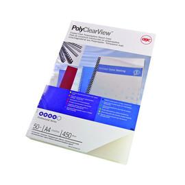 Einbanddeckel PolyClearView A4 350µ transparent matt GBC IB387166 (PACK=100 STÜCK) Produktbild