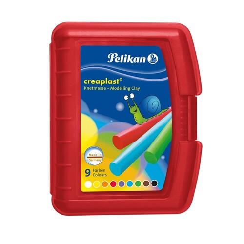 Creaplast Kinderknete in transparent- roter Box NEU sortiert Pelikan 622670 (ST=14 STÜCK) Produktbild