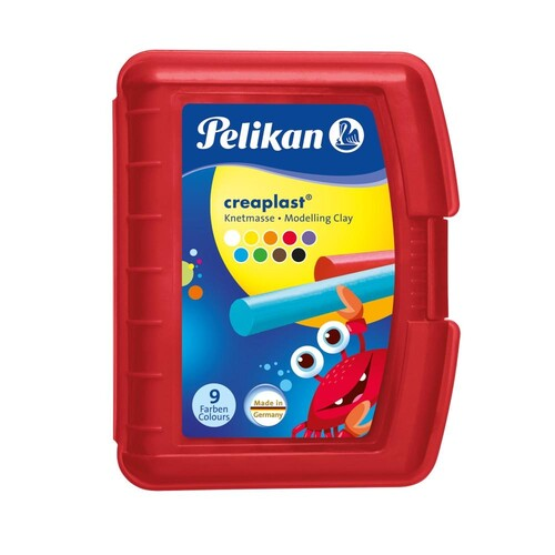 Creaplast Kinderknete in transparent- roter Box NEU sortiert Pelikan 622670 (ST=14 STÜCK) Produktbild Additional View 1 L
