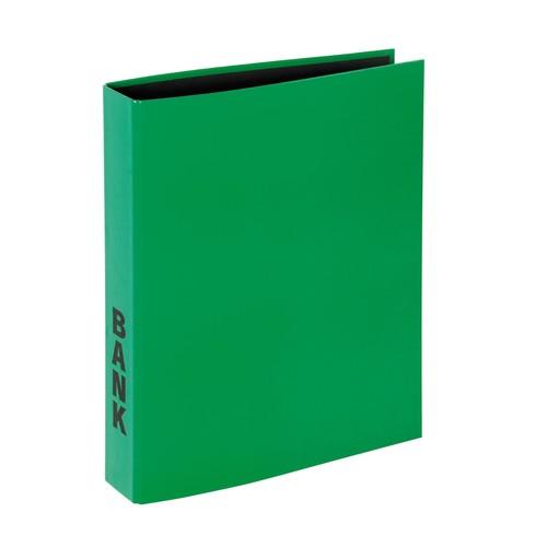 Bankordner Basic A4 50mm 2 Ringe mit Niederhalter grün Pagna 40851-05 Produktbild Additional View 3 L