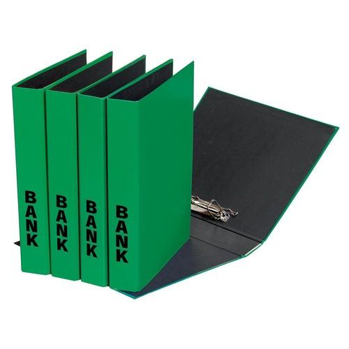 Bankordner Basic A4 50mm 2 Ringe mit Niederhalter grün Pagna 40851-05 Produktbild Additional View 2 L