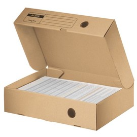 Archivbox Fast & Easy 330x150x255mm Rückenbreite 80mm naturbraun Leitz 6052-00-00 Produktbild