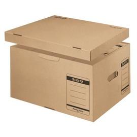 Archiv Container Fast & Easy mit separatem Deckel Größe L 420x350x265mm naturbraun Leitz 6055-00-00 Produktbild