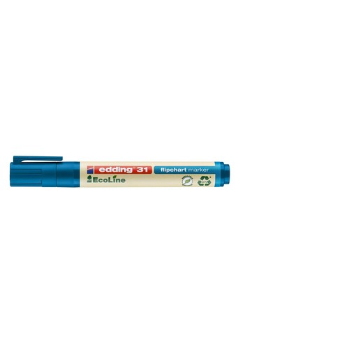 Flipchartmarker EcoLine 31 1,5-3mm Rundspitze blau Edding 4-31003 Produktbild