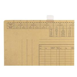 Vollsichtreiter für Einstellmappen 3-zeilig 25mm breit transparent Leitz 2454-00-00 (PACK=50 STÜCK) Produktbild