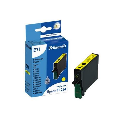 Tintenpatrone Gr. 1616C (T128440) für Stylus S22/SX445W 3,5ml yellow Pelikan 4108937 Produktbild Front View L