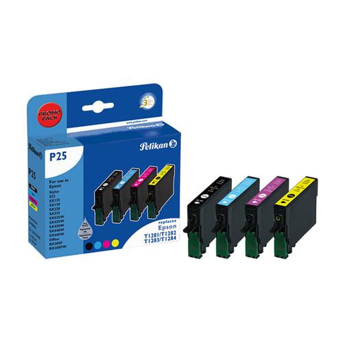 Tintenpatronen für Gr. 1616 (T1285) für Stylus S22/SX445W 1x5,9ml/3x3,5ml 1xschwarz/1x je Farbe Pelikan 4109941 Produktbild Front View L