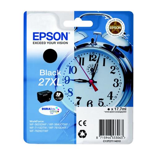 Tintenpatrone 27XL für Epson WF3620/ 7110DTW/7600 17,7ml schwarz Epson T271140 Produktbild Front View L