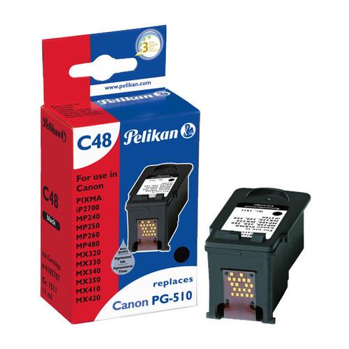 Tintenpatrone Gr. 1511 (PG-510bk) für Pixma IP2700/MP240/MX420 10ml schwarz Pelikan 4105707 Produktbild Front View L