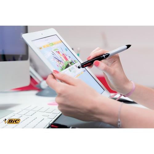 Vierfarb-Kugelschreiber Grip Stylus mit Touchpen-Funktion 0,4mm Bic 926404 Produktbild Additional View 6 L