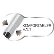 Vierfarb-Kugelschreiber Grip Stylus mit Touchpen-Funktion 0,4mm Bic 926404 Produktbild Back View S