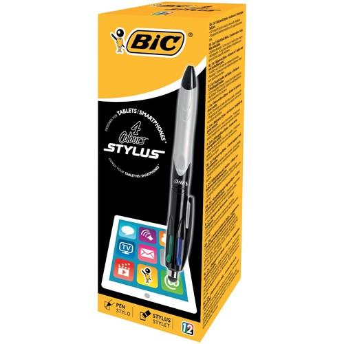 Vierfarb-Kugelschreiber Grip Stylus mit Touchpen-Funktion 0,4mm Bic 926404 Produktbild Additional View 2 L
