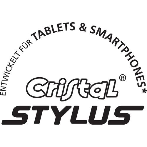 Kugelschreiber Cristal Stylus mit Touchpen-Funktion 0,4mm mittel blau Bic 926388 Produktbild Back View L