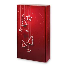 Geschenkverpackung Santa bordeaux Für 2 Flaschen Famulus 120168 Produktbild