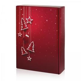 Geschenkverpackung Santa bordeaux Für 3 Flaschen Famulus 130168 Produktbild